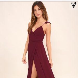 Lulus high low wrap dress